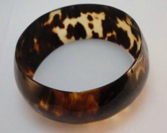 20s antique tortoise shell bangle bracelet vintage