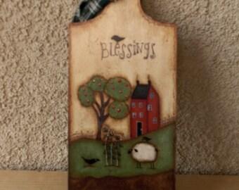 Folkart Blessing Hanger
