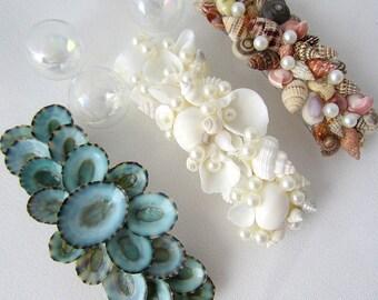 Beach Wedding Hair Accessories, Nautical Wedding Seashell Barette, Shell Barrette, Shell Barette, Beach Hair Accessory, Sea Shell Barrette