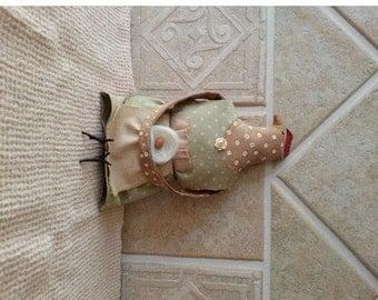 Chicken Doll Folk Art Dressed Up Primitive Chicken Hen