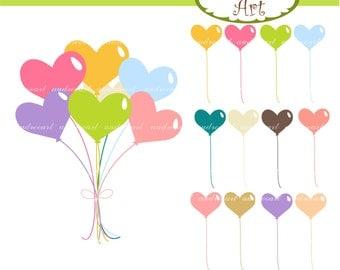 Balloons clip art , balloon clip art, balloons heart clip art, hearts clip art