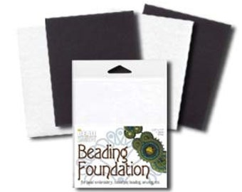 Small Beading Foundation 2 Black and 2 White Sheets