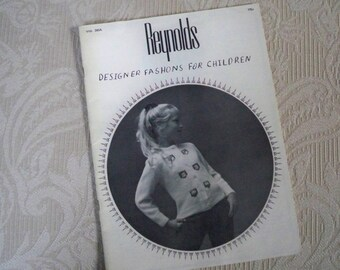 "Knitting Supplies ""Designer Fashions for Children"" Reynolds Vol.38A Knitting Patterns"