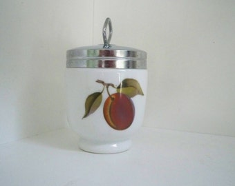 Vintage Collectible Porcelain Large Royal Worcester Fruit Egg Coddler