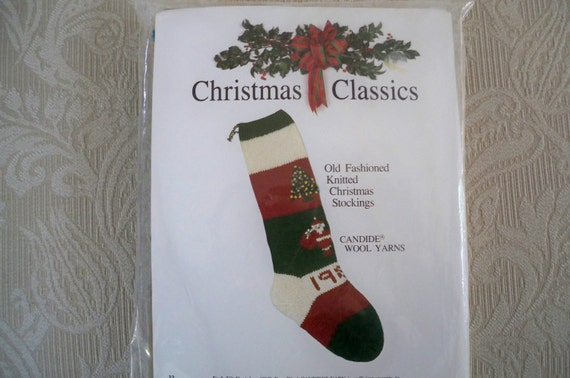 Accessories Unlimited Knitting Supplies : Craft knitting christmas stocking kit needlework candide yarn