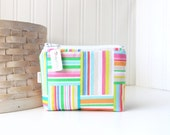 Colorful Striped Coin Purse Gift Card Credit Card Holder Colorful Zipper Pouch Change Purse