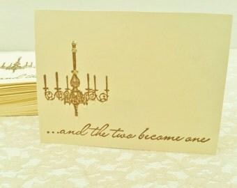 50 Wedding Wish Box Cards Elegant Chandelier Guest Book Alternative Wedding Reception Cards