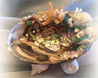 Hawaiian Sunset Seashell Trinket Dish