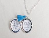 SALE Jane Eyre Locket Necklace Quote Tassel Bridal Customized Jewelry Jewellery. Two Cheeky Monkeys Feminine Typography Personalised Bronte