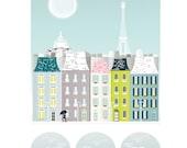 Paris : City Art Print / Cityscape Art Print / Paris Poster / Paris Illustration