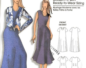 Butterick B5049 Sewing Pattern, Ladies Dresses and Top, Connie Crawford, XS, S, M, L, XL