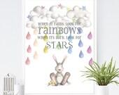 When it rains look for rainbows custom order for Roberta