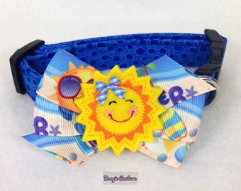Beach Party Dog Collar Size XS through Large by Doogie Couture Pet Boutique