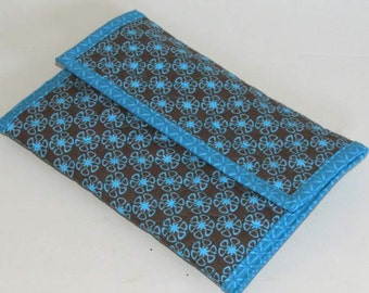 Tech Sleeve or Envelope for Kindle eReader, Turquoise and Brown