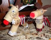University of Oklahoma inspired Christmas ornament bottle tag/ornament