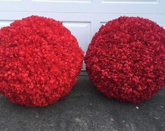 Extra Large Silk Flower Balls for Wedding Decoration 24""