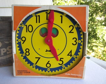Vintage 1975 Judy Clock Back To School Original in Box