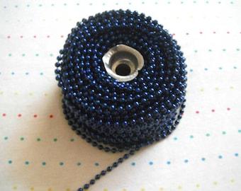 Small Royal Blue Pearl Trim, 4 mm - 12 Yards