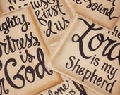 Set of 3 - 11x14 Hand Lettered Prints on Paper