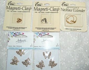 Jolee's Jewels Swarovski Crystallized Elements Butterfly charms, magneti-clasps