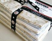 "fat quarter bundle, StudioE Cream & Sugar V, 18"" X 21"", basic cream gold, gray, 15 pcs. Quiltsy Destash"