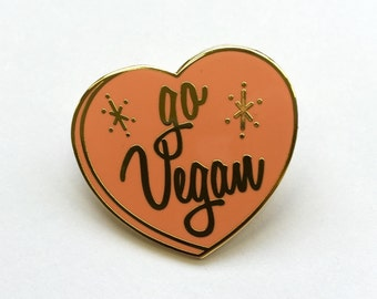 Go Vegan Pin
