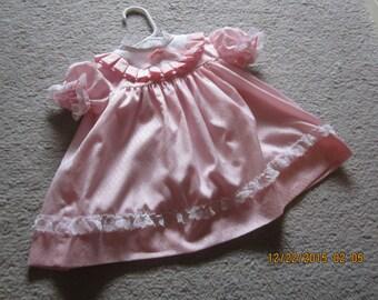 Sale WINNIE the Pooh Walt Disney Baby Dress Vintage M Pink with Lace