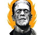 Frankenstein's monster digital print