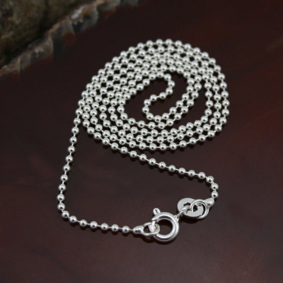 20 sterling silver bead chain