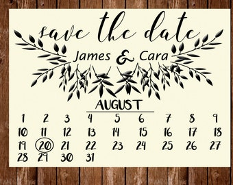 Calender Save the Date