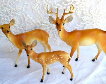Vintage Deer Family - Set of 3 - Large Buck Hong Kong