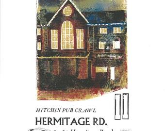 Hermitage Rd. Reduction Lino and Letterpress Original Print