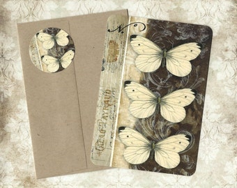 Note Cards, Vintage Butterflies, Stickers, Butterfly Notecards, Gift Idea