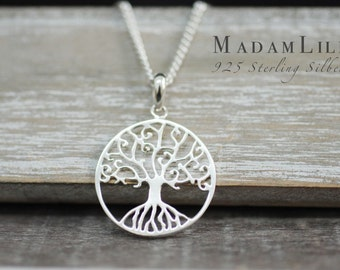 925 Sterling Silver Necklace Tree of life
