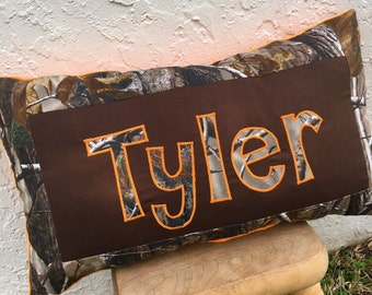 Camo Pillow - Real Tree Camo pillow - personalized