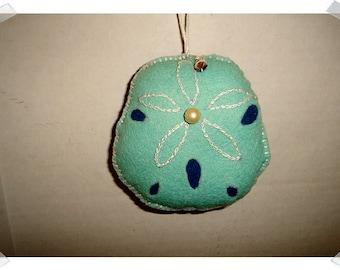 Large Sand Dollar Ornament*/Made of Felt /Handmade/**Made to Order**