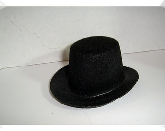 "Black Felt Top Hat/ 5""/ Craft Supplies*"