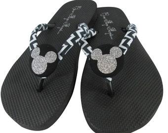 Custom flip flops and Disney shirts