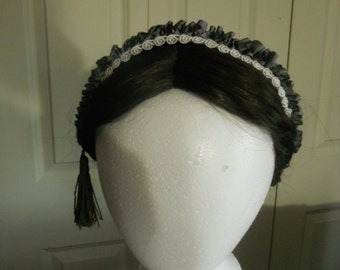 Victorian, Civil War Reproduction Ribbon Hair Net, Costume, Reenacting, New