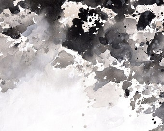 Rainy Day Coulds Fine Art Print from Original Abstract Painting