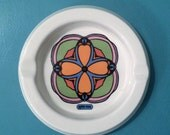 Peter Max Ashtray - Kaleidoscope Clover - Psychedelic Graphic - 1970s - Iroquois China