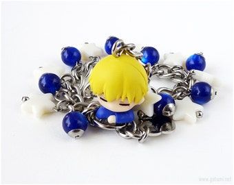 Ryota Kise Charm Bracelet, Anime Figure Bracelet, Kawaii Jewelry, Anime Jewelry, Kuroko no Basuke
