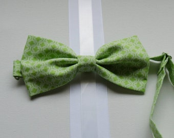 Bowtie - Baby, Toddler, and Boys Green Moroccan Print Bowtie