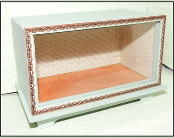 Dollhouse miniature quarter scale roombox kit