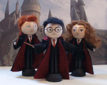 Harry Potter trio clothespin dolls