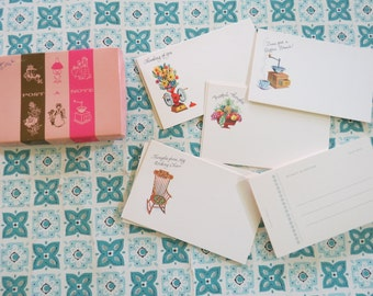 Cute Vintage Post A Note Cards