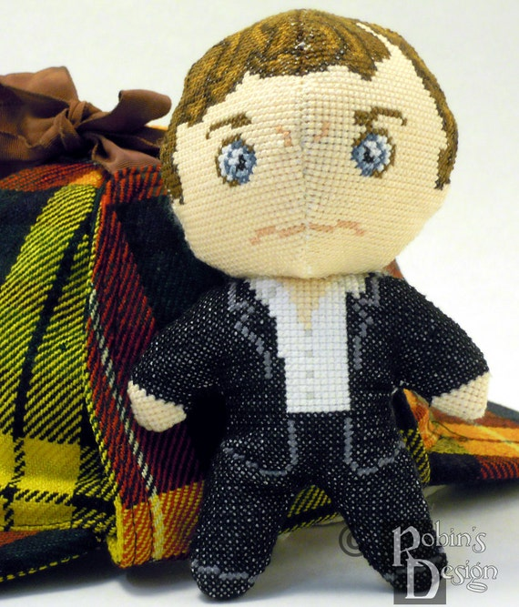 Sherlock Holmes Doll 3D Cross Stitch Sewing Pattern PDF
