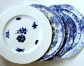 SOLD/ON RESERVE!Antique English Blue & White China Plate Collection, 1830s-1920s, Spode Italian, Coalport 1750, John Rogers Athens /sold!!