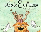 O Gato E O Macaco - The Cat and The Monkey Sticker