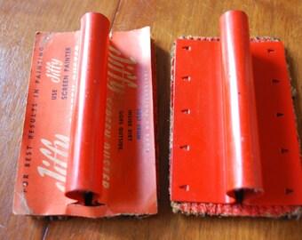 vintage Jiffy screen duster - vintage housekeeping tool - primitive - industrial